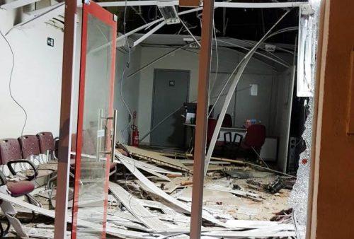 Quadrilha ataca cidade no interior cearense e destrói agência bancária com explosão