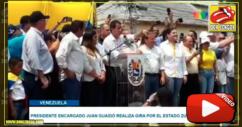 Juan Guaidó se burló del SEBIN durante su miting en el Zulia