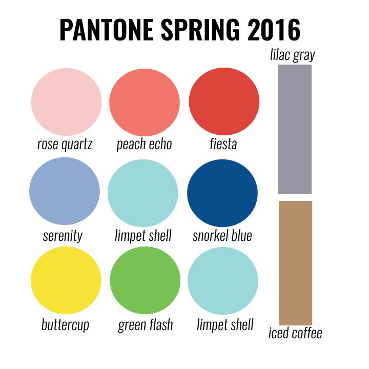 Pantone 2016: Designs In Paper: Pantone Spring 2016