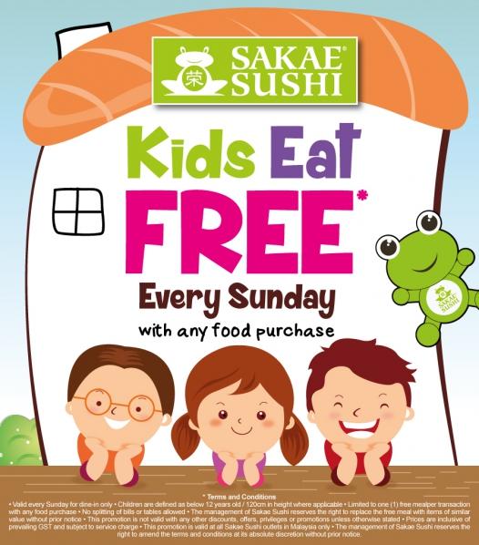 Sakae Sushi Malaysia Kids Eat Free Sunday Promo