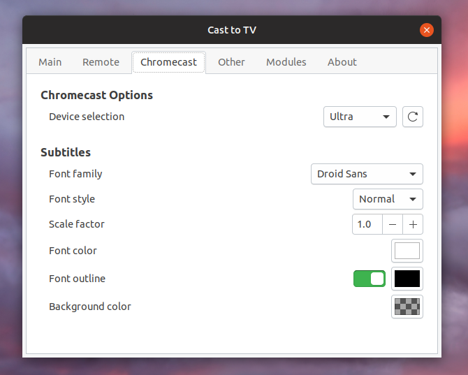 GNOME Chromecast Extension