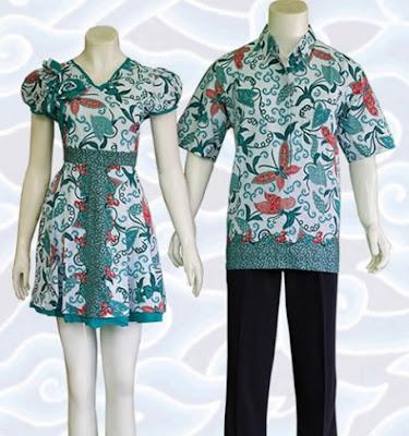 Contoh baju batik pekalongan sarimbit