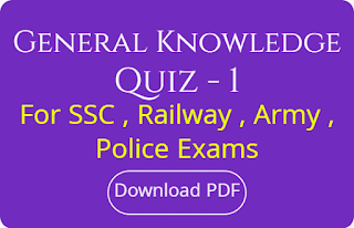 General Knowledge Quiz - 1