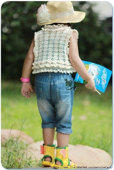 wzory kamizelek dla dziewczynek