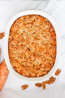 Delicious Bourbon Sweet Potato Casserole