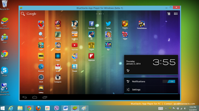 Bluestacks emulator android