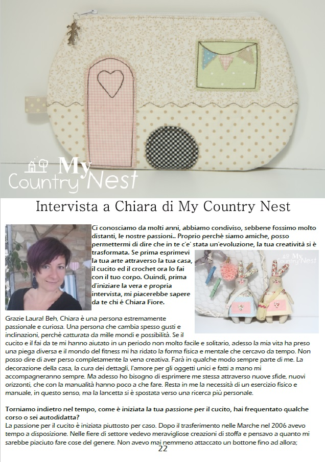 Impronte Creative Free Intervista A Chiara My Country Nest