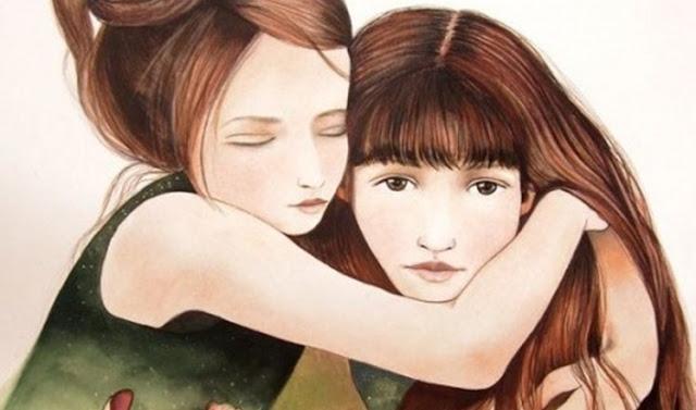 amizade, coração, Irmã,