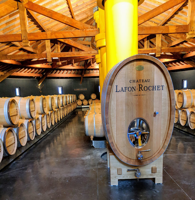 Medoc wine: Barrel room at Chateau Lafon-Rochet