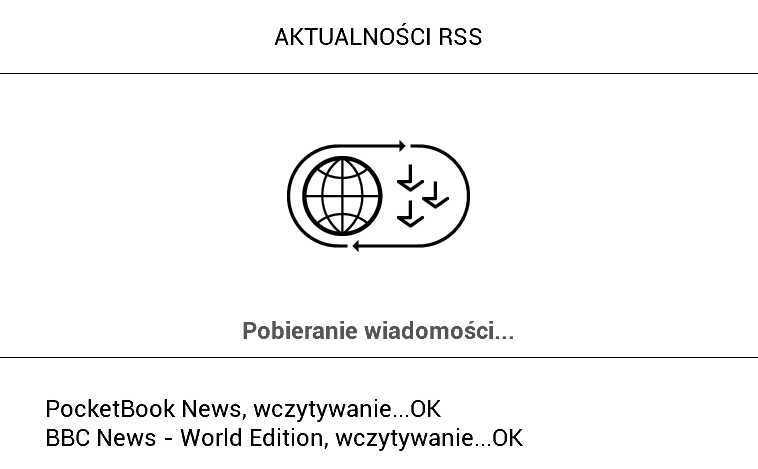 PocketBook Aqua 2 – wczytywania aktualności z kanałów rss