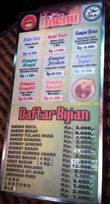 daftar menu bakso president malang nurul sufitri blogger kuliner jawa timur