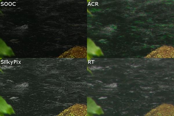 Обработка RAW-файлов с Pixel Shift разными программами