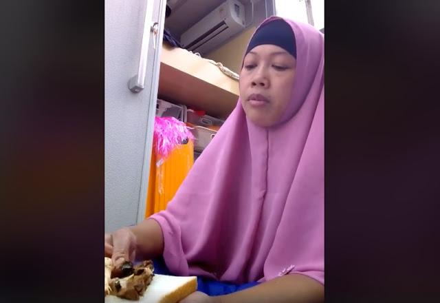 Heboh, Perempuan Berhijab Pamer Makan Daging Babi