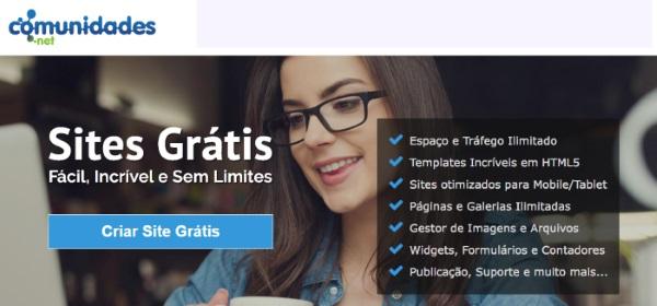comunidades.net- Crie seu site grátis