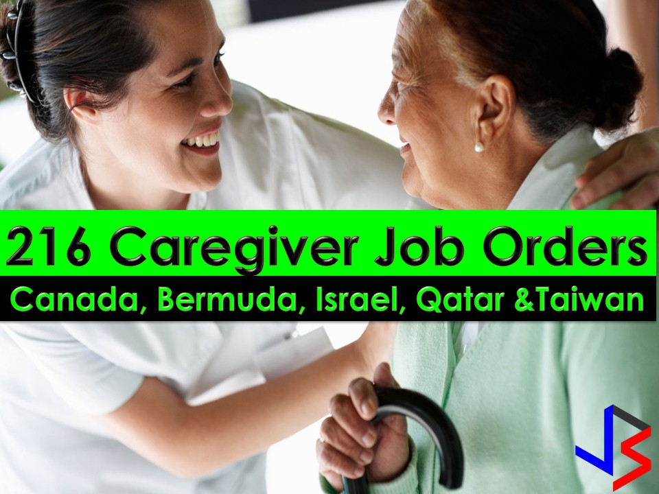 When it comes to caregiving jobs abroad, Filipinos are number one priorities of many countries. This is because Filipino caregivers are known to be patient, kind, hardworking and most of all provides the highest standard of tender loving care.   This December, the following countries are hiring for Filipino caregivers. Canada, Bermuda, Israel, Qatar, and Taiwan. This is a good opportunity for Filipinos out there who wants to apply for caregiving jobs abroad. The said five countries are known to have a good working standard for OFWs and other migrant workers.