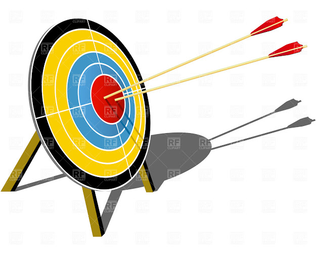 Archery Target Hit With Arrow Click To Zoom