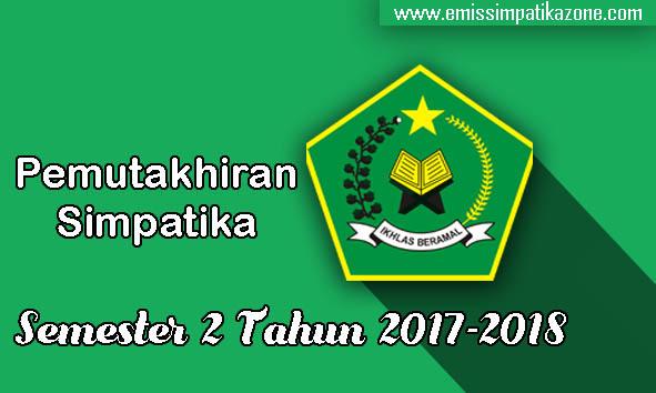 Info Pemutakhiran Simpatika Semester 2 Tahun 2017/2018
