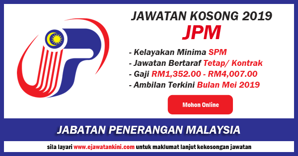 Jawatan Kosong Terkini Jabatan Penerangan Malaysia 2019