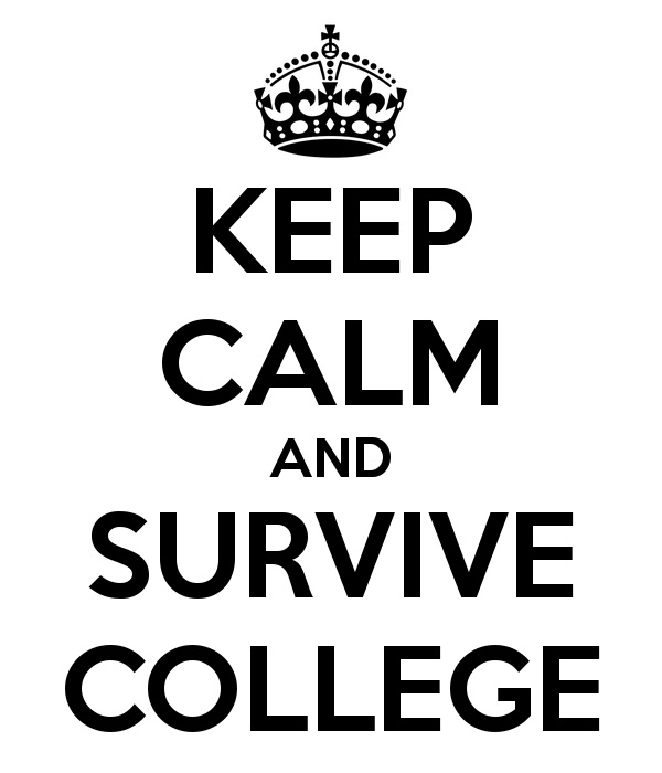 keep calm you will survive college
