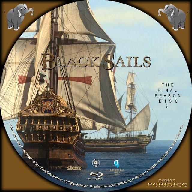 Black Sails Season 4 Disc 3 Bluray Label