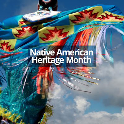 Image of a dancer in a traditional native American costume