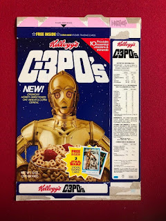 Kellogg's C-3PO's Cereal Box Sticker Trading Cards