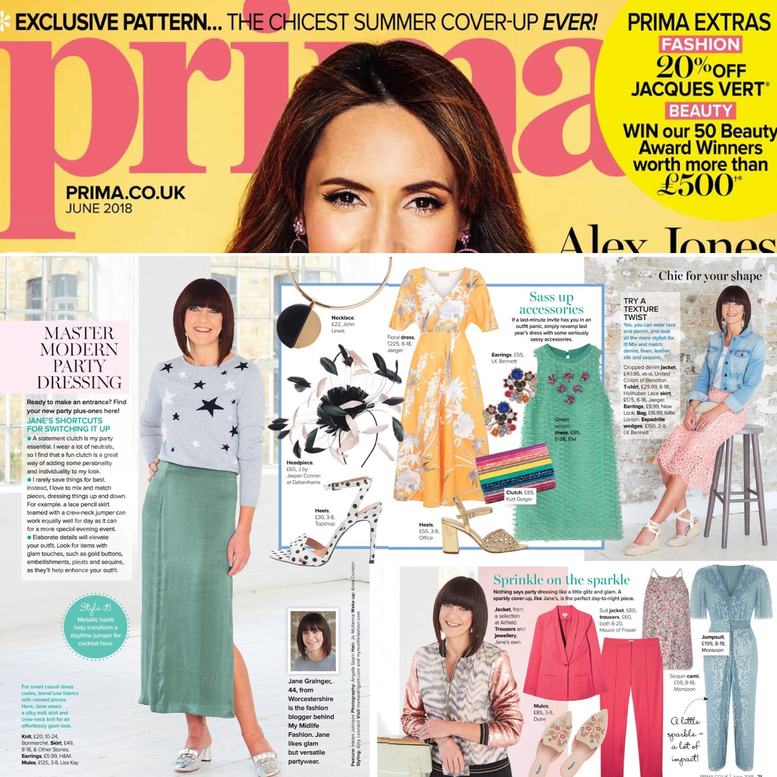 my midlife fashion, prima magazine june 2018
