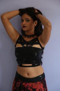 Shriya Vyas in a Tight Backless Sleeveless Crop top and Skirt 138.JPG