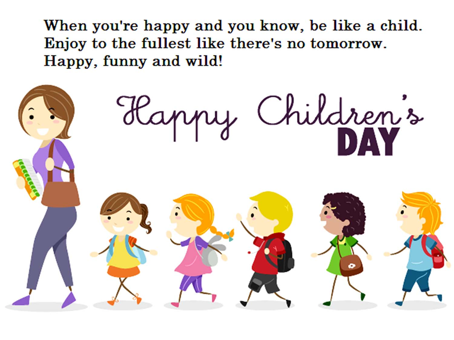 Short Poem On Children S Day In English