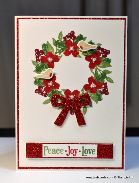 Peace This Christmas Wreath Video Janb Cards