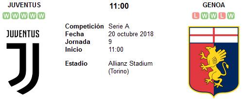 Juventus vs Genoa en VIVO