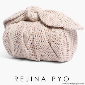Meghan Markle carried Rejina Pyo Nane Bag Cotton Weave Ivory