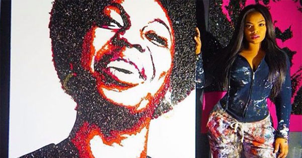Tiffanie Anderson, artist and painter for celebrities