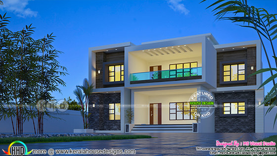 Beautiful flat roof contemporary home 1847 sq ft