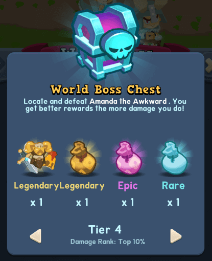 World of Legends World Boss Chests