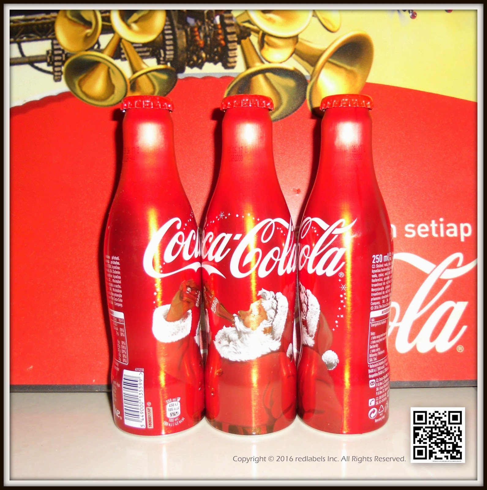 Coca Cola Christmas Aluminum Bottle Czech Republic 2016