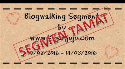 Pemenang Blogwalking Segment by kasihjuju.com