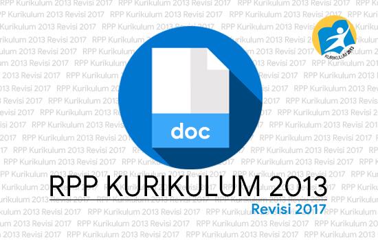 Unduh RPP SD Kelas 1 Kurikulum 2013 Revisi 2017 semester 2
