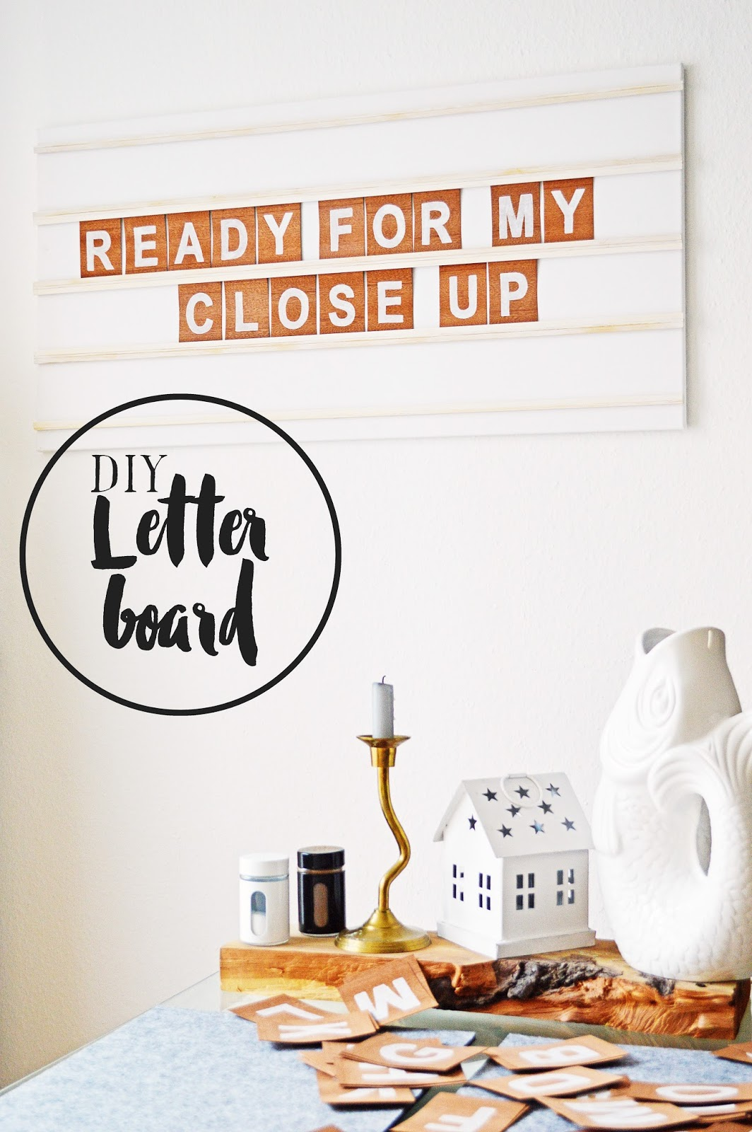 DIY Letter Board, Motte's Blog