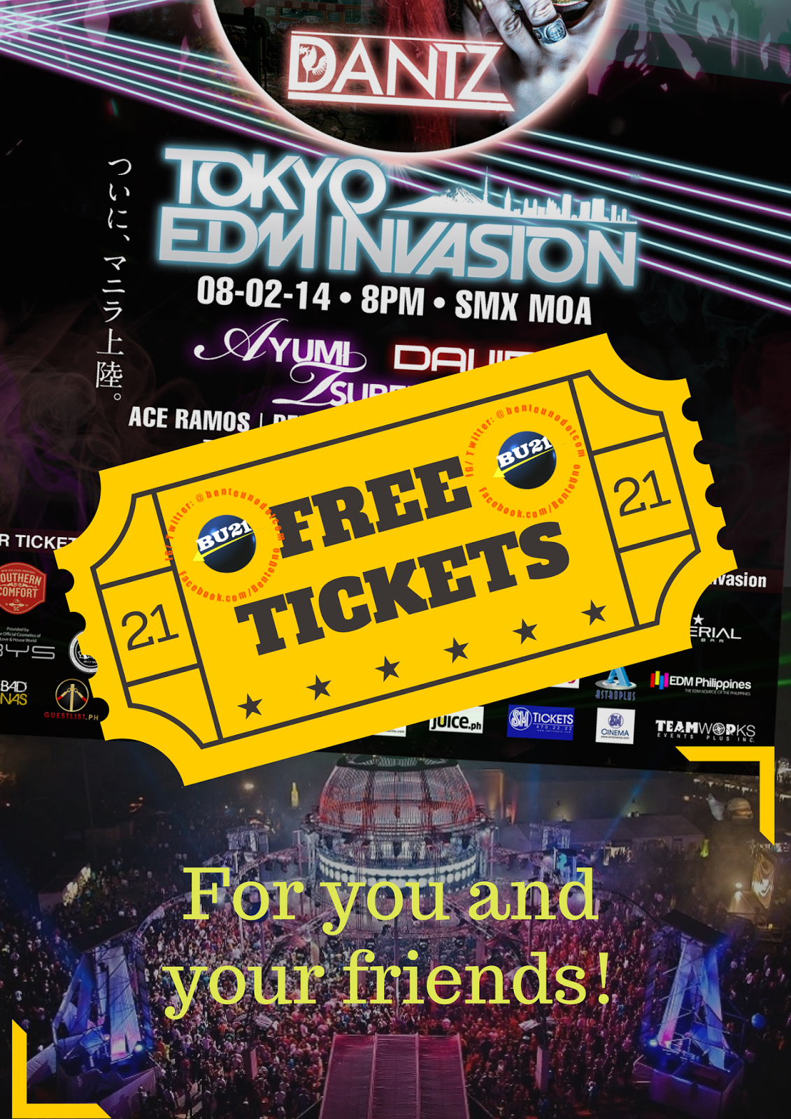 Win free tickets to Tokyo EDM Invasion