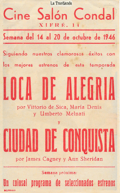 Ciudad de Conquista - Folleto de mano - James Cagney - Ann Sheridan