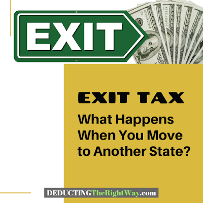 State Exit Tax: Moving To Another State | www.deductingtherightway.com