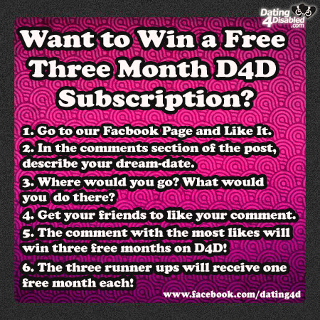 Want to Win a Free Dating4Disabled Subscription? Please Read Through the Rules