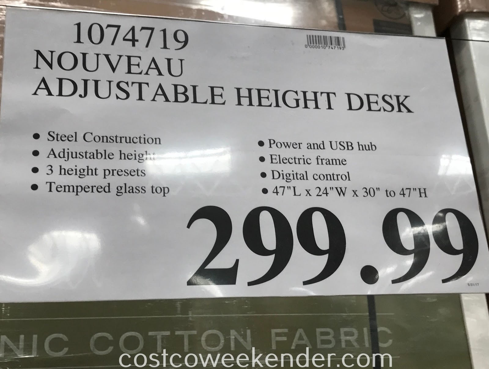 Deal for the Tresanti Nouveau Adjustable Height Desk at Costco