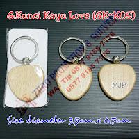 Gantungan Kunci Bahan Kayu, wood keyring souvenir, ganci kayu