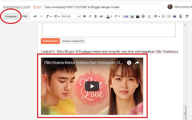 Cara Mudah Memasang Video Youtube di Blogger
