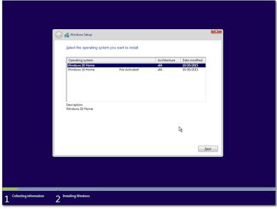 Windows 10 Home X86/X64 v1511