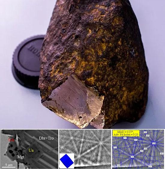 Mineral desconhecido mais duro que diamante é encontrado em meteorito - Image Meteorite results