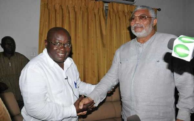 Akufo Addo in bed with Rawlings and the wife, Out of Kumi Preko