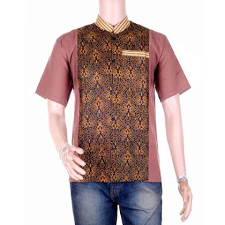 gambar baju koko batik lengan pendek
